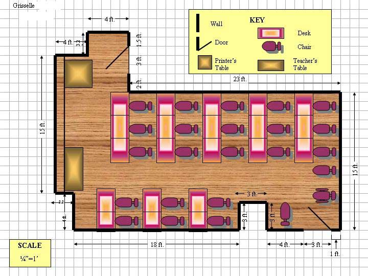 The gallery for classroom drawing layout for Classroom floor