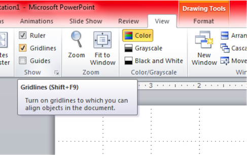Draft a CAD Drawing using MS PowerPoint 2010
